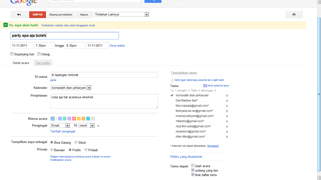 Cara membuat acara di Google Calendar   inet113110112